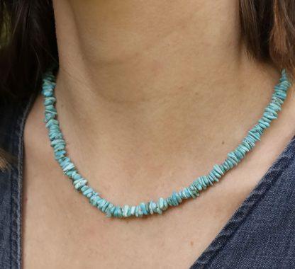 Ogrlica z akvamarinom